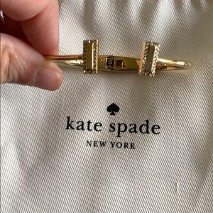 Gold cuff Kate Spade bracelet